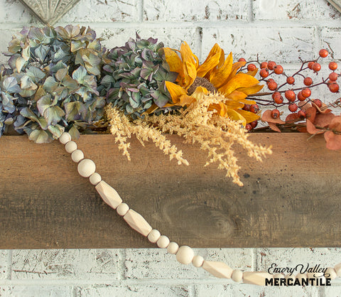 wood bead garland strand