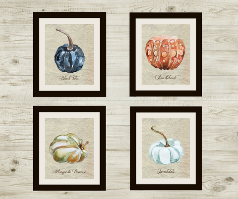 fall watercolor pumpkin digital printable artwork