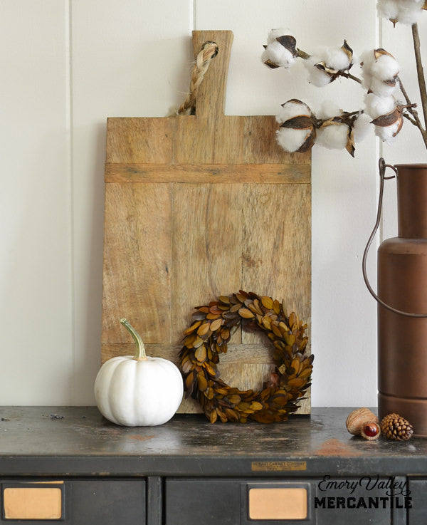 fall preserved boxwood wreath