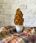 fall preserved boxwood topiary cone orange brown