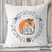 farmhouse style fall pillow thankful grateful blessed buffalo check pumpkin