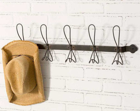 metal farmhouse wall hook rack