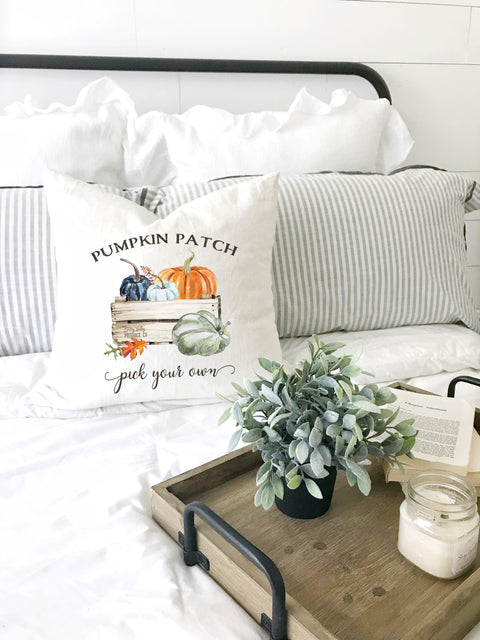 farmhouse pumpkin patch pick your own pillow