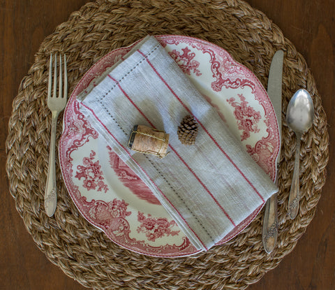 Rosanna Striped Napkins Set of 6, 3 colors available