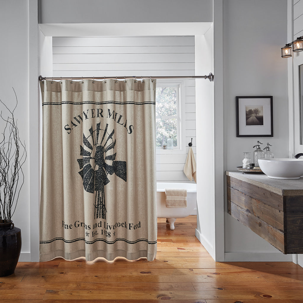 farmhouse style shower curtain