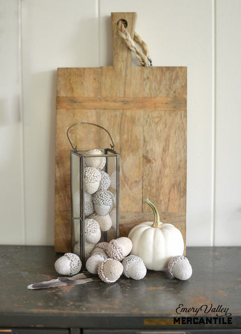 small foam decorative acorns