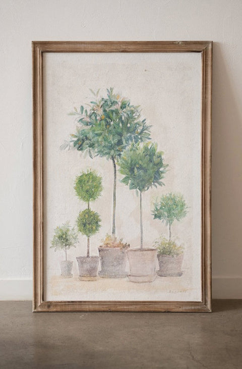 framed topiary wall art