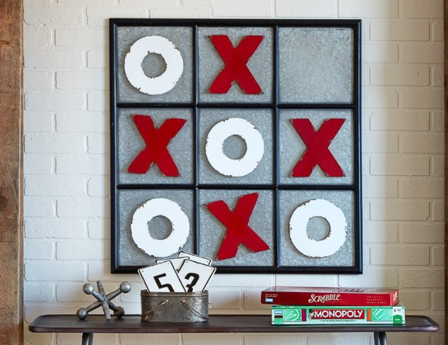 large magnetic galvanized wall mounted tic tac toe