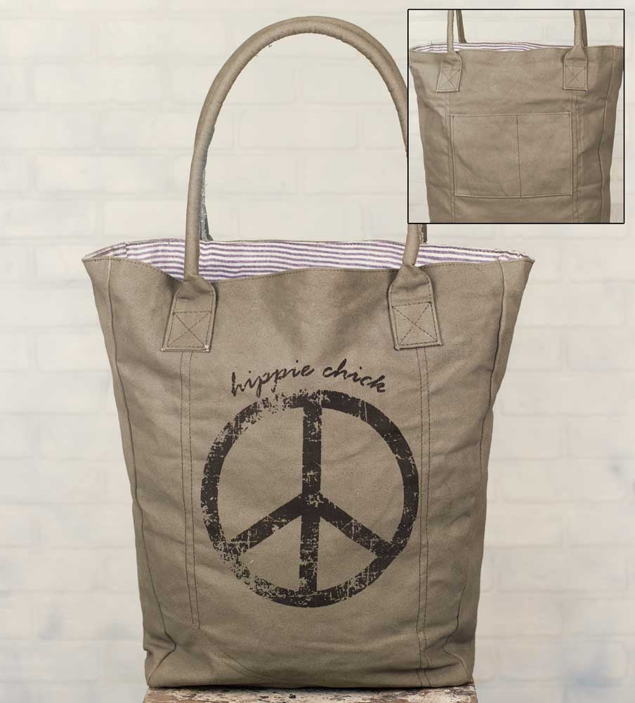 hippie chick canvas market bag