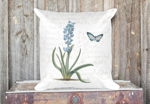 Vintage Hyacinth Pillow Cover