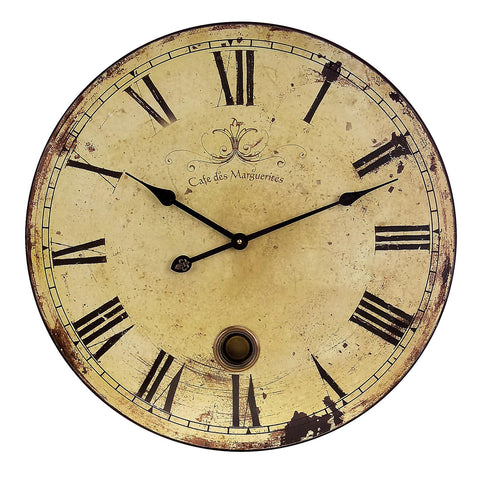 large vintage French-inspired wall clock