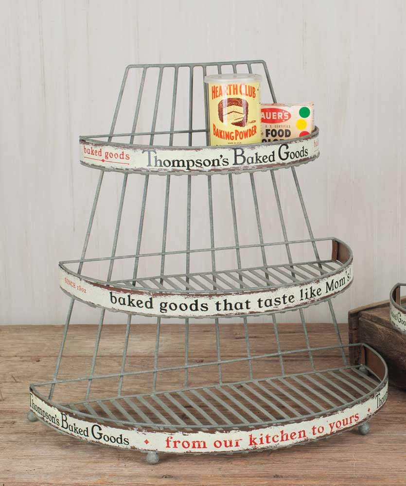 Vintage Style Grocery Store Baked Goods Rack