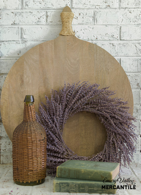 dried lavender wreath