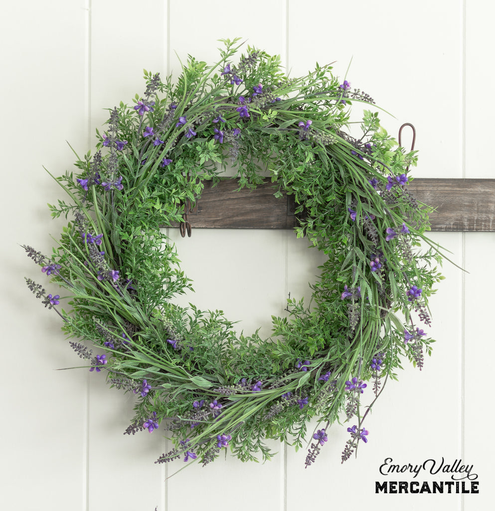 artificial lavender wreath