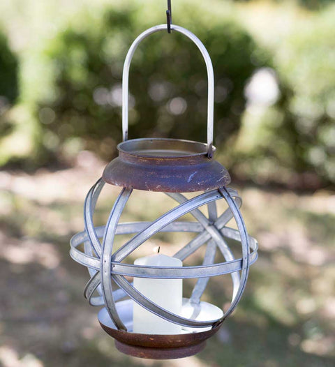 metal farmhouse candle lantern