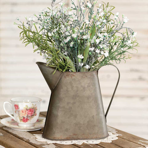 Minnie Small Farmhouse Style Metal Pitcher