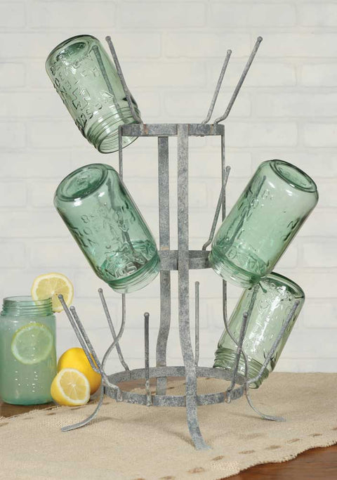 vintage style distressed metal bottle tree