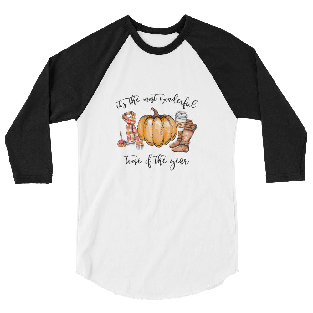 the most wonderful time of the year fall pumpkin baseball tee