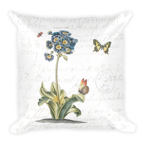 Vintage Primrose Botanical Pillow
