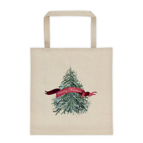 Christmas Tree Tote Canvas Tote Bag