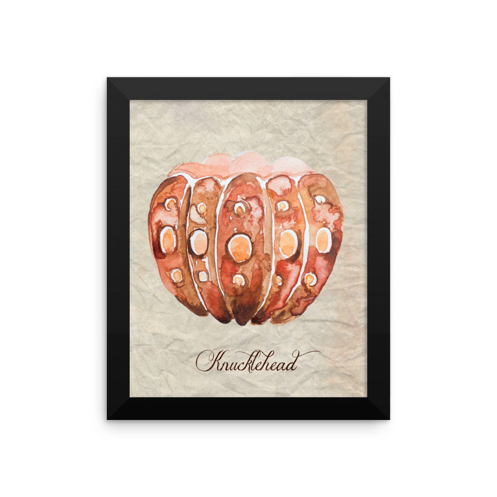 Knucklehead Pumpkin Framed poster