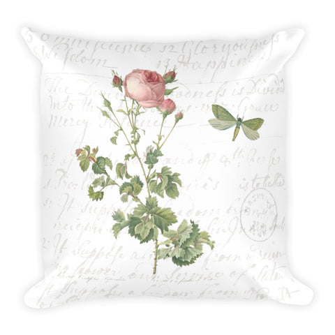 Vintage Rose Botanical Pillow