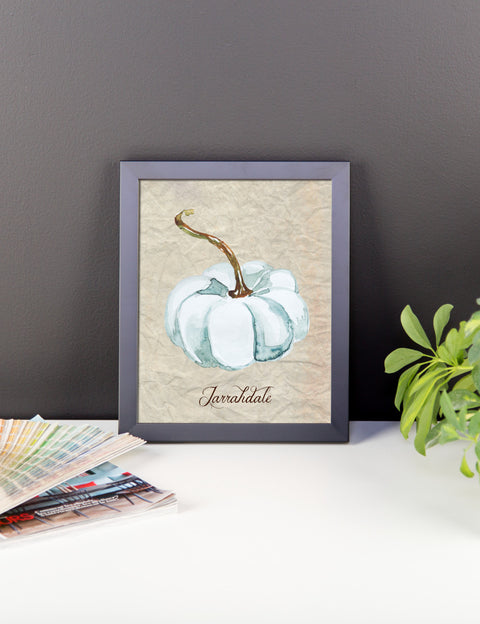 Jarrahdale Watercolor Pumpkin Framed poster