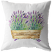watercolor lavender throw pillow