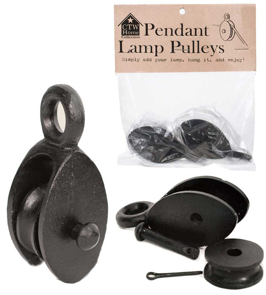 pulley for pendant lamp light farmhouse industrial style