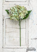 Realistic Faux Hydrangea Stem, Light Green, Set of 3