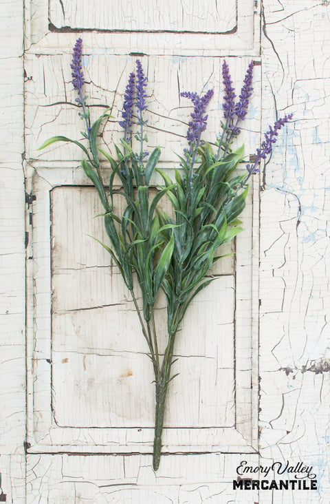 Faux Lavender Bush Spray