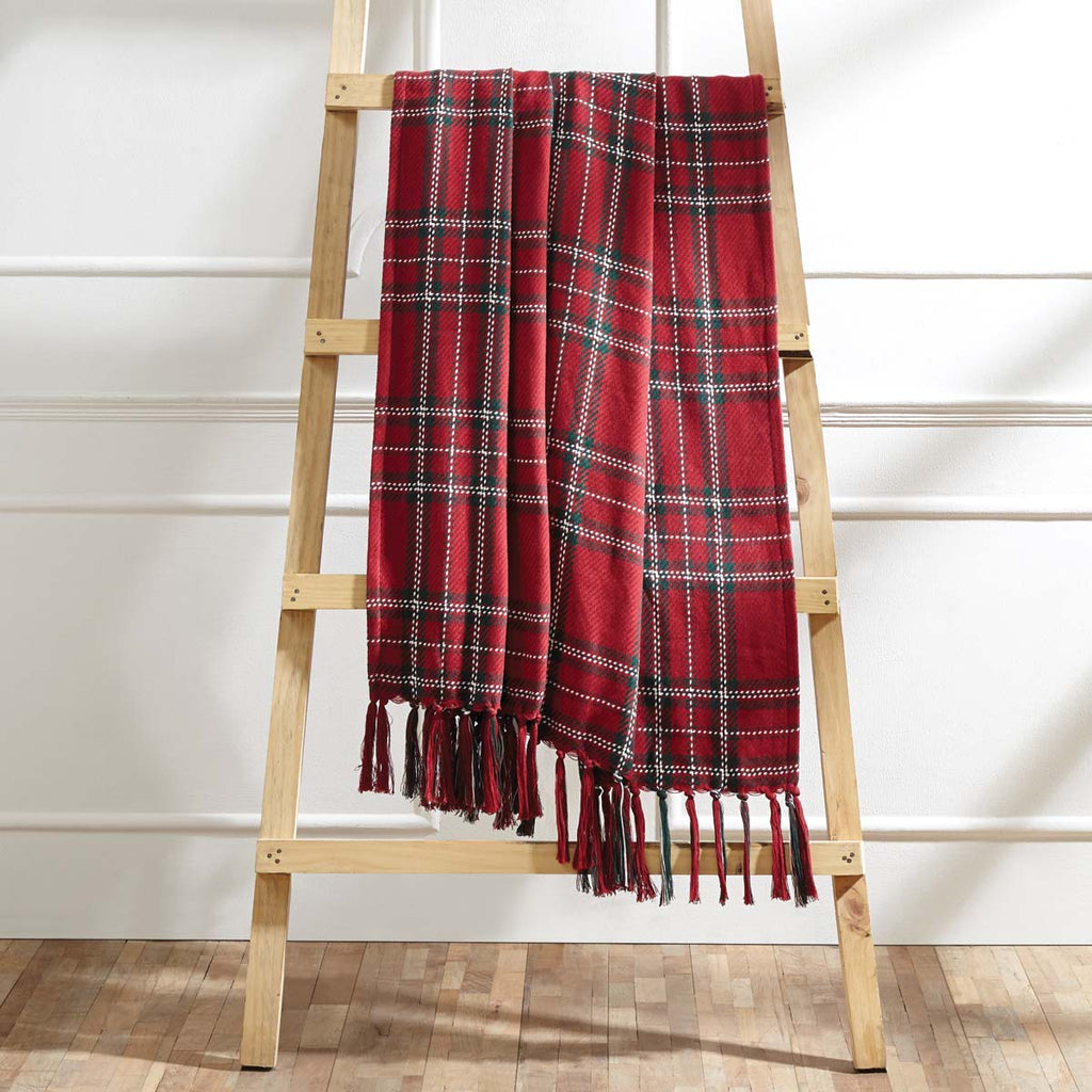 red plaid throw blanket
