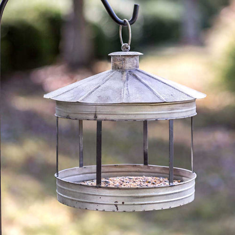 rustic farmhouse silo bird feeder
