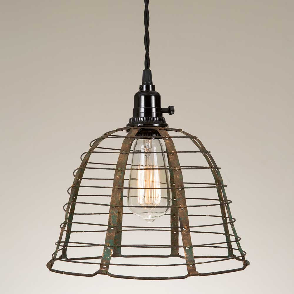 Farmhouse Style Rustic Cage Light – Emory Valley Mercantile