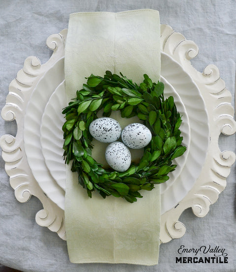 Preserved Boxwood Wreath 6""