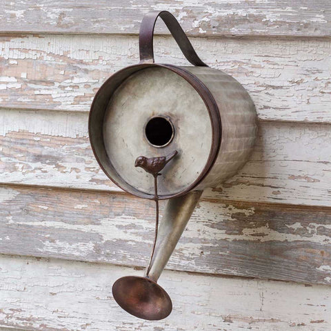 watering can birdhouse