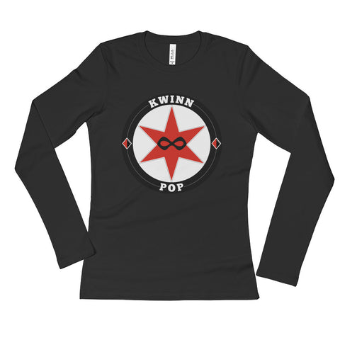 Kwinn Pop Logo Gear - Ladies' Long Sleeve T-Shirt