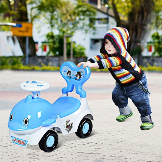 3-in-1 Baby Walker Sliding Car Pushing Cart Toddler Ride