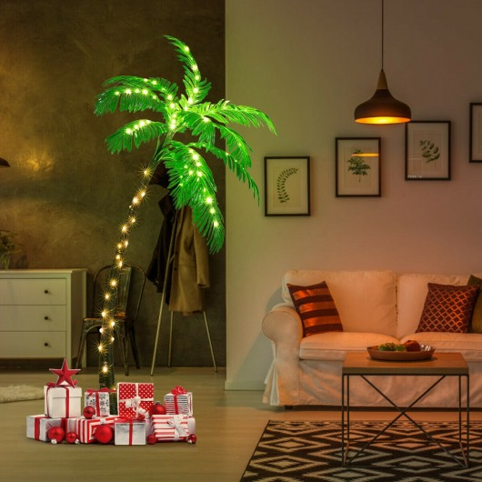 Artificial Lighted Palm Tree with LED Lights