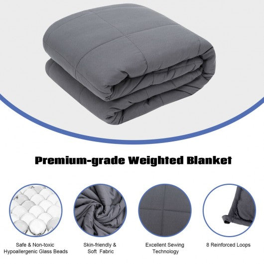 Home Crystal Velvet Fabric Weighted Blanket