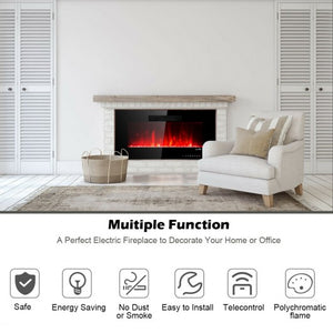 Recessed Wall Mounted Standing Electric Heater Electric Fireplace