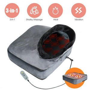 Shiatsu 3-in-1 Vibration Foot Massager with Heating & Kneading