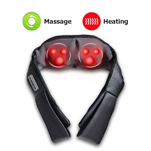 Shiatsu Back and Neck Kneading Shoulder Massager With Heat Straps