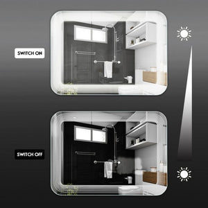 LED Bathroom Vanity Wall-Mount Mirror with Touch Button