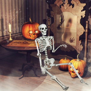 Halloween Skeleton Life Size Realistic Full Body Hanging