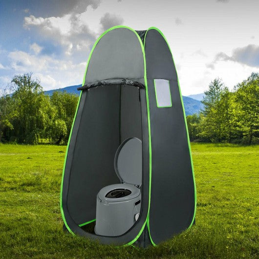 Portable Travel Toilet with Paper Holder for Indoor Outdoor