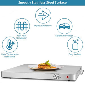 Stainless Steel Electric Warming Tray Food Dish Warmer