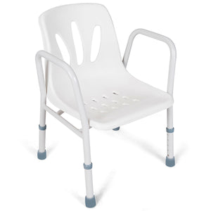 Height Adjustable Medical Shower Bench Seat with Arms