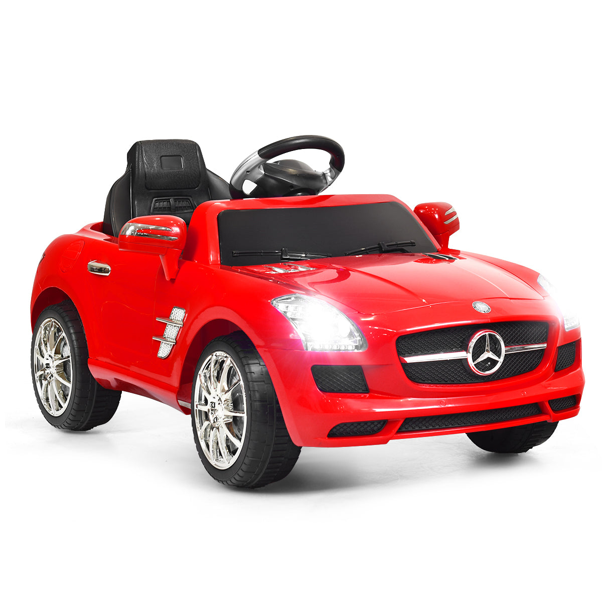 New Red Mercedes Benz sls r/c Mp3 Kids Ride on Car Electric Battery Toy