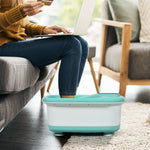 Portable Electric Automatic Roller Foot Bath Massager-Green
